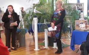 Barbara Abley with EGV Geelong President Valda King at the Opening