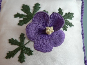 Lesley Beltrame's Stumpwork flower