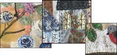 Pauline Mackenzie applique , stitchery panels